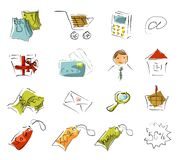 Graphismes d'achats illustration stock