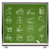 Graphismes d'achats et de site Web Image stock