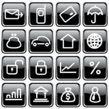 Icônes d'affaires photo libre de droits