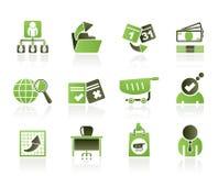 Graphismes d'affaires, de management et de bureau Photographie stock