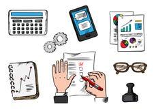 Graphismes d'affaires, de management et de bureau Photographie stock libre de droits
