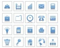 Graphismes d'affaires et de bureau réglés illustration stock