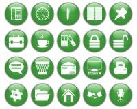 Graphismes d'affaires et de bureau réglés Photos libres de droits