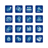 Graphismes d'affaires et de bureau réglés Photographie stock libre de droits