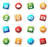 Graphismes d'affaires et de finances Photographie stock