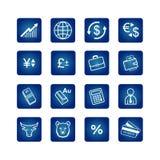 Graphismes d'affaires réglés Images stock