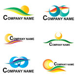 Graphismes d'affaires réglés Image stock