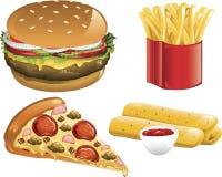 Graphismes d'aliments de préparation rapide Image libre de droits
