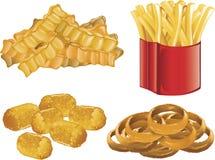 Graphismes d'aliments de préparation rapide Images stock