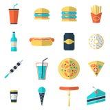 graphismes d'aliments de préparation rapide réglés Photos libres de droits