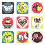 Graphismes d'amoureux Photos libres de droits