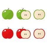 Graphismes d'Apple réglés Images libres de droits