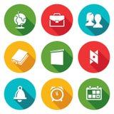 Graphismes d'approvisionnements d'école réglés Illustration de vecteur Photos libres de droits