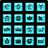 Graphismes d'argent Photos libres de droits