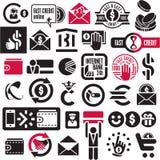 Graphismes d'argent et d'opérations bancaires réglés Photos libres de droits