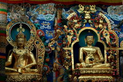 Graphismes d'or de Bouddha Photographie stock