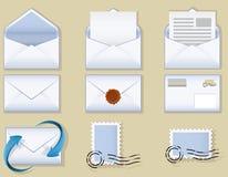 Graphismes d'enveloppe Photographie stock libre de droits