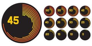 Graphismes d'horloge Image stock