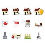 Graphismes d'immeubles, partie Images stock