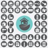 Graphismes d'immeubles réglés Image libre de droits