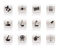 Graphismes d'industrie de chimie illustration de vecteur