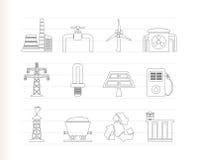 Graphismes d'industrie de pouvoir et d'électricité Photo stock