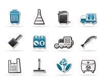 Graphismes d'industrie et d'environnement de nettoyage illustration de vecteur