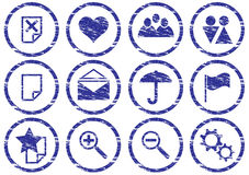 Graphismes d'instrument réglés. Image stock