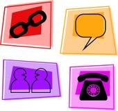 Graphismes d'Internet Images libres de droits