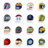Graphismes d'Internet, d'ordinateur et de téléphone portable illustration stock