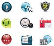 Graphismes d'Internet et de réseau de vecteur. Partie Photographie stock