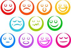 Graphismes d'émotion Image stock