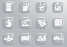 Graphismes d'objets d'industrie de pétrole et d'essence Photo libre de droits