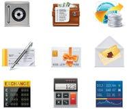 Graphismes d'opérations bancaires de vecteur. Partie Images stock