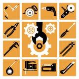 Graphismes d'outils réglés Photos stock