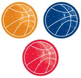 Graphismes de basket-ball Images libres de droits