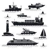 Graphismes de bateau et de bateau illustration de vecteur