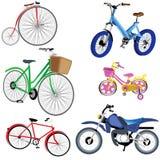Graphismes de bicyclette et de moto Photographie stock libre de droits