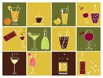 Graphismes de boissons Photographie stock libre de droits