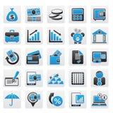 Graphismes de côté, d'affaires et de finances illustration stock