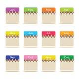 Graphismes de calendrier Photographie stock