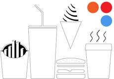 Graphismes de carte d'hamburger Photo libre de droits
