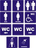 Graphismes de carte de travail Image libre de droits