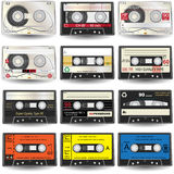 Graphismes de cassette Photo stock