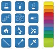 Graphismes de chimie illustration libre de droits