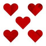 Graphismes de coeur Photos stock
