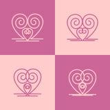 Graphismes de coeur Image libre de droits