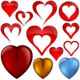 Graphismes de coeur II Images stock