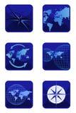 Graphismes de compas et du monde illustration stock