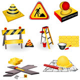 Graphismes de construction Photos libres de droits